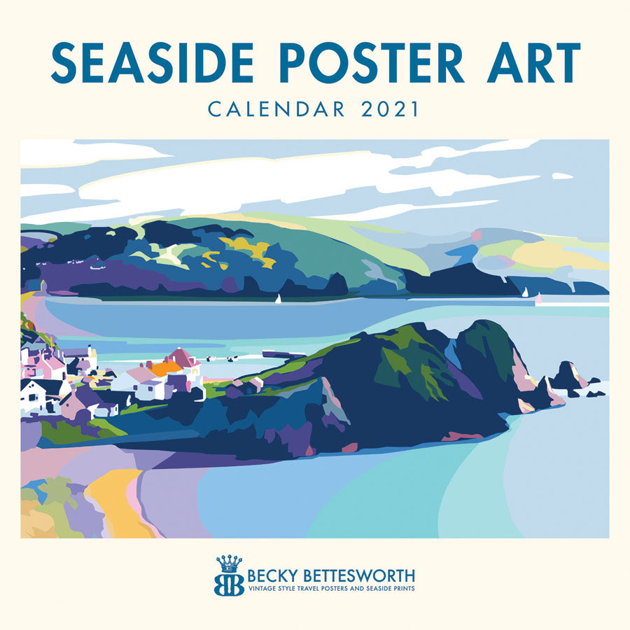 2021 Seaside Poster Art Calendar 12 x 12