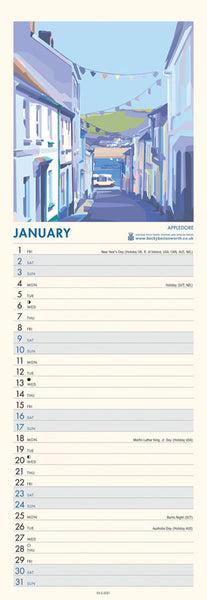 2021 Seaside Art Slim Line Calendar