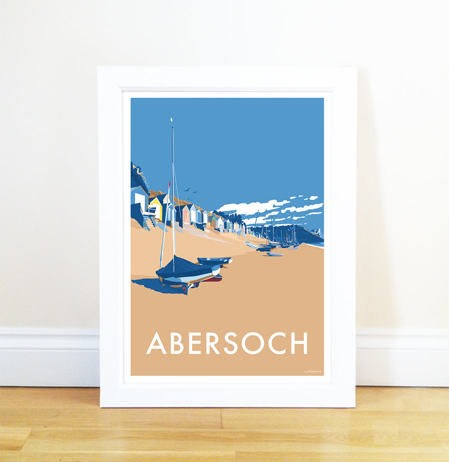 Abersoch travel poster and seaside print by Becky Bettesworth - BeckyBettesworth - 1