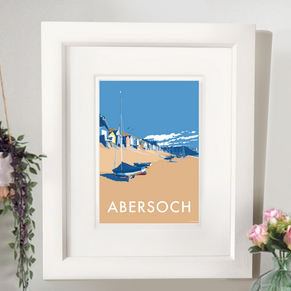 Abersoch travel poster and seaside print by Becky Bettesworth