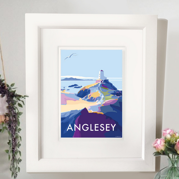 Anglesey travel poster and seaside print by Becky Bettesworth