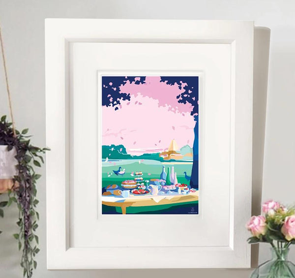A Little of What you Fancy A4 seaside print by Becky Bettesworth
