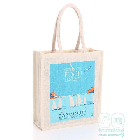 Dartmouth Food Festival Jute Bag by Becky Bettesworth - BeckyBettesworth