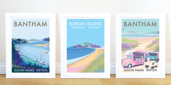 Bantham River A4 print by Becky Bettesworth