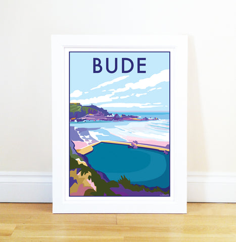 Bude travel poster and seaside print by Becky Bettesworth - BeckyBettesworth - 1