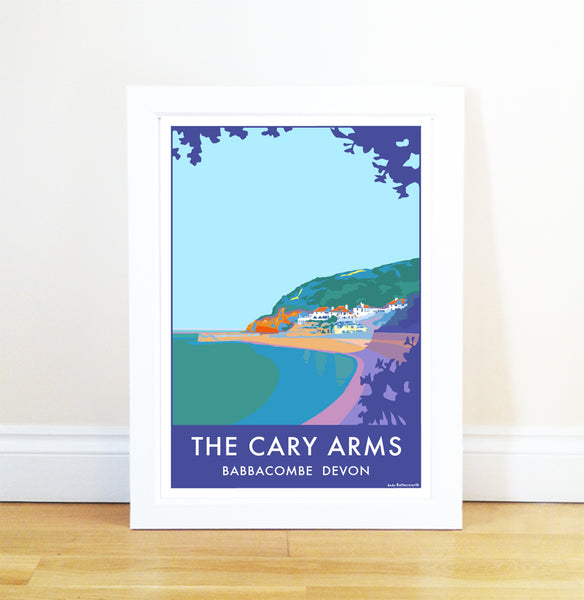 The Cary Arms travel poster and seaside print by Becky Bettesworth - BeckyBettesworth - 1