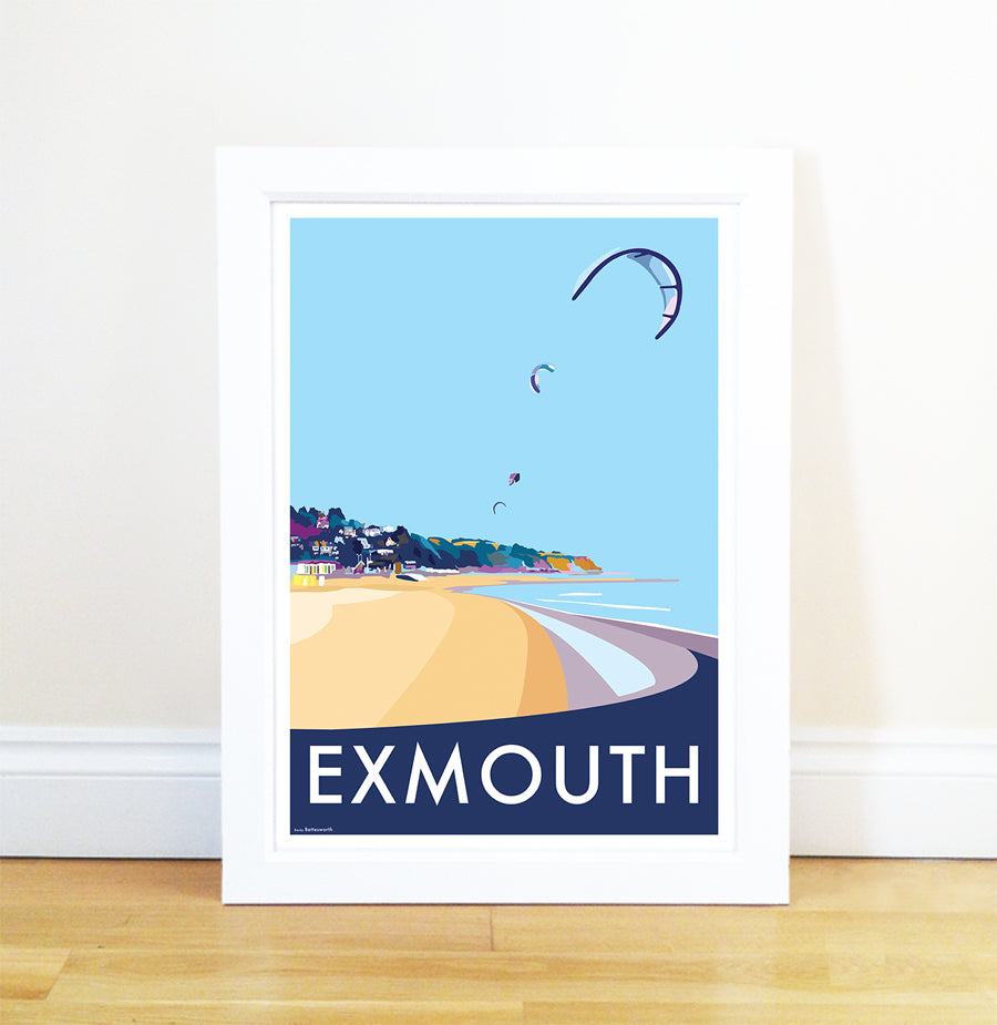 Exmouth travel poster and seaside print by Becky Bettesworth - BeckyBettesworth - 1