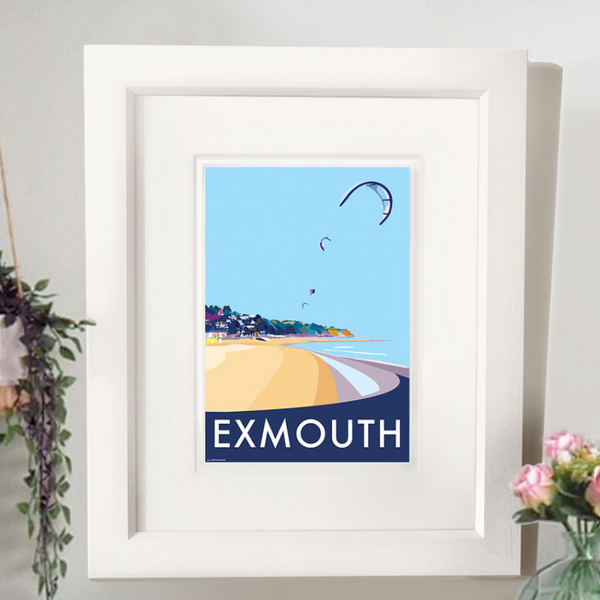 Exmouth travel poster and seaside print by Becky Bettesworth