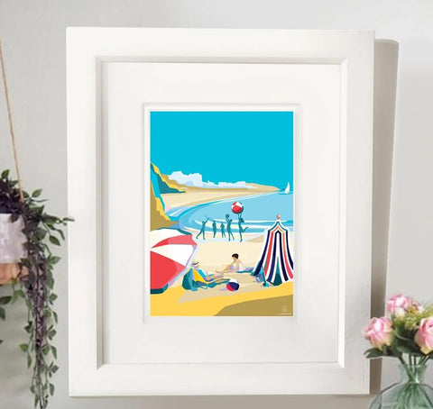 A Breath Of French Air A4 seaside print by Becky Bettesworth