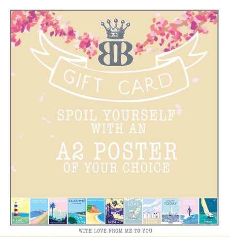 Becky Bettesworth Gift Card - A2 poster