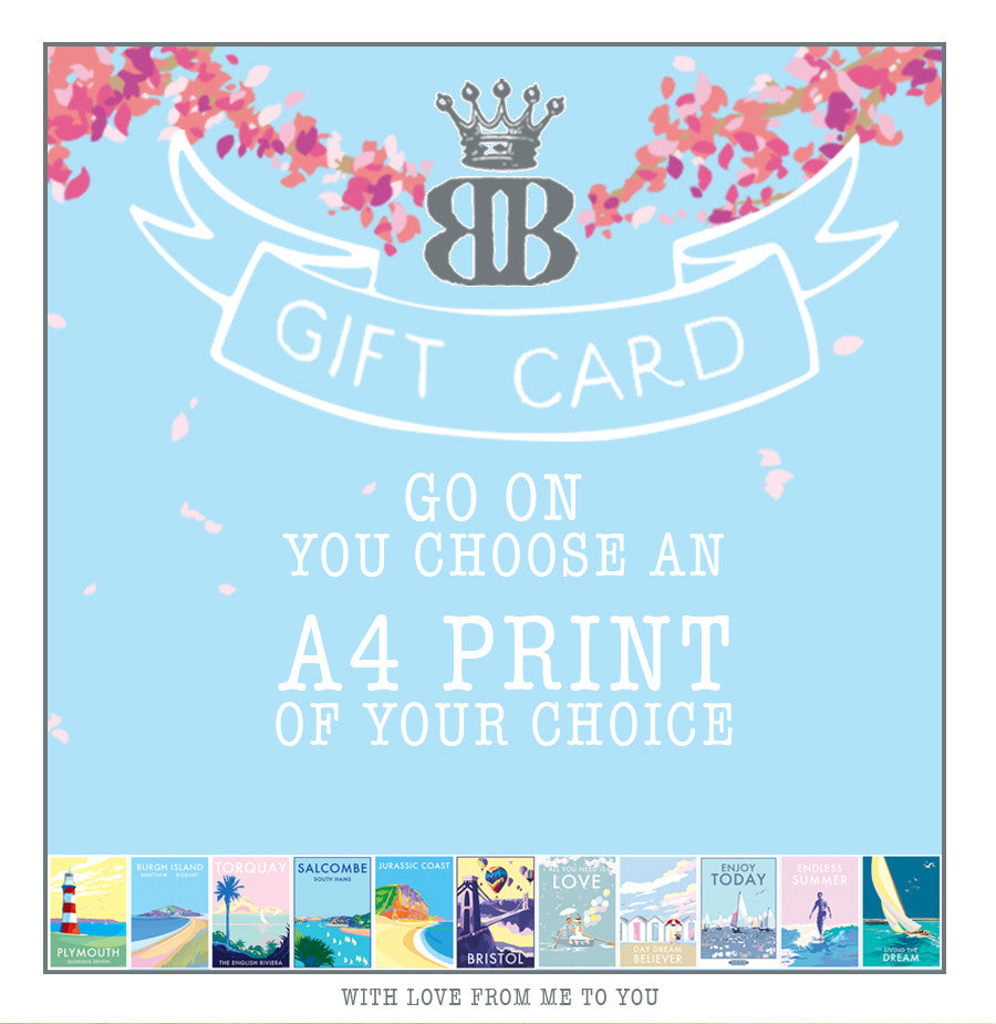 Becky Bettesworth Gift Card A4 print