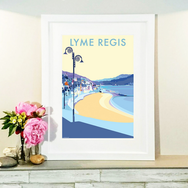 Lyme Regis travel poster and seaside print by Becky Bettesworth