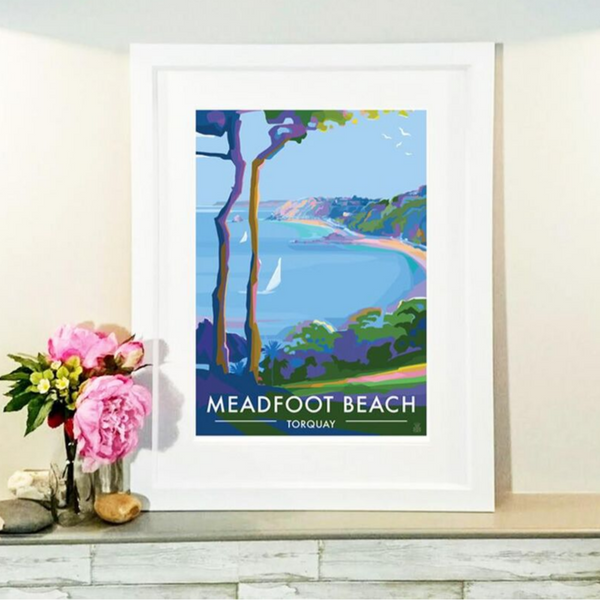 Meadfoot Beach, Torquay - Limited Edition Print by Becky Bettesworth