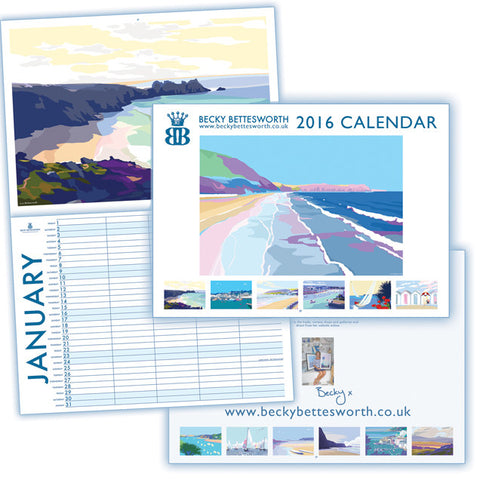 *** SOLD OUT ***Becky Bettesworth 2016 Calendar - BeckyBettesworth