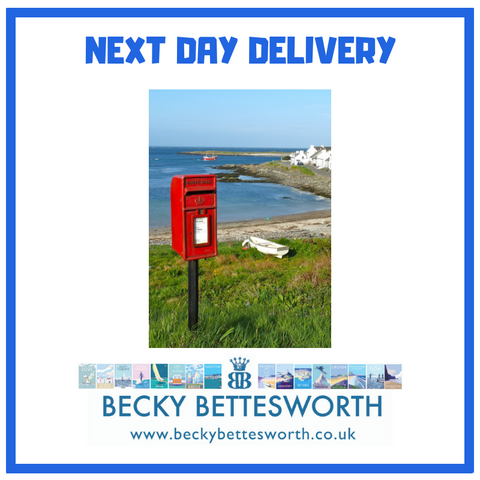 Becky Bettesworth Royal Mail guaranteed next day delivery