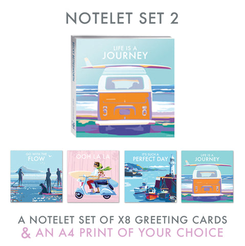 NEW Notelet Set 2 and A4 Print by Becky Bettesworth