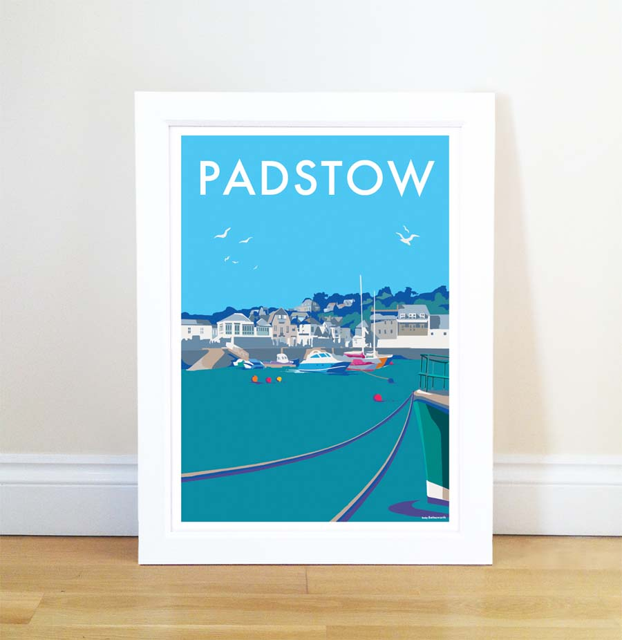Padstow travel poster and seaside print by Becky Bettesworth - BeckyBettesworth - 1
