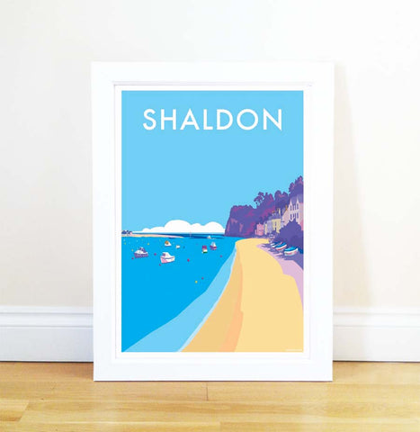 Shaldon travel poster and seaside print by Becky Bettesworth - BeckyBettesworth - 1