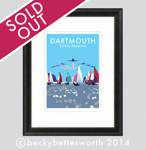 *** SOLD OUT ***Dartmouth Royal Regatta Limited Edition Print - BeckyBettesworth