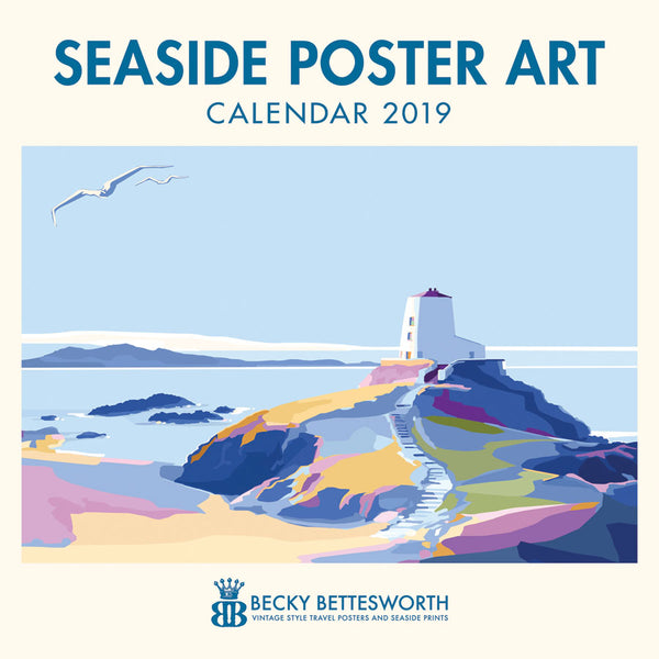 2019 Seaside Poster Art Calendar 12 x 12