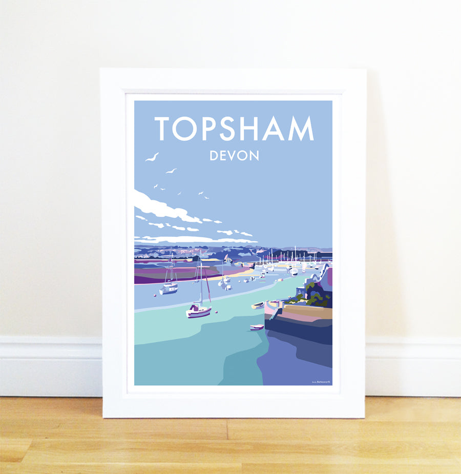 Topsham travel poster and seaside print by Becky Bettesworth - BeckyBettesworth - 1