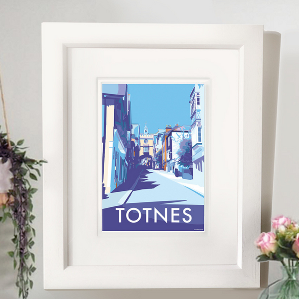 Totnes Arch travel poster and seaside print by Becky Bettesworth
