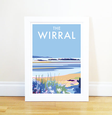 The Wirral travel poster and seaside print by Becky Bettesworth - BeckyBettesworth - 1