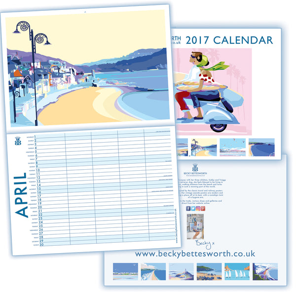 Becky Bettesworth *NEW LIMITED EDITION SIGNED 2017* Family Planner Calendar - BeckyBettesworth - 5