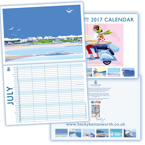 Becky Bettesworth *NEW LIMITED EDITION SIGNED 2017* Family Planner Calendar - BeckyBettesworth - 8