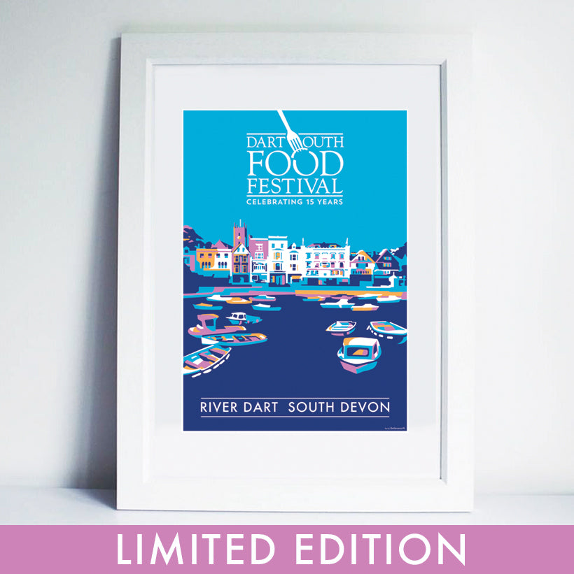 Dartmouth Food Festival 2017 SPECIAL LIMITED EDITION A1 PRINT