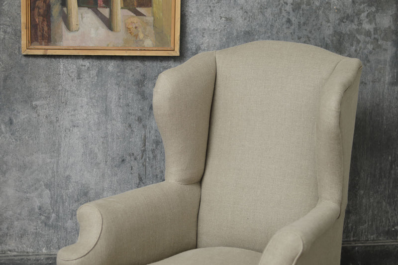 19th CENTURY COUNTRY WING CHAIR