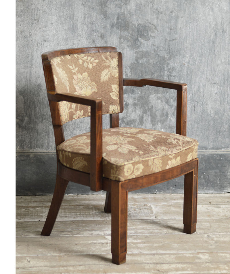 ENGLISH OAK FOLK STYLE ARMCHAIR