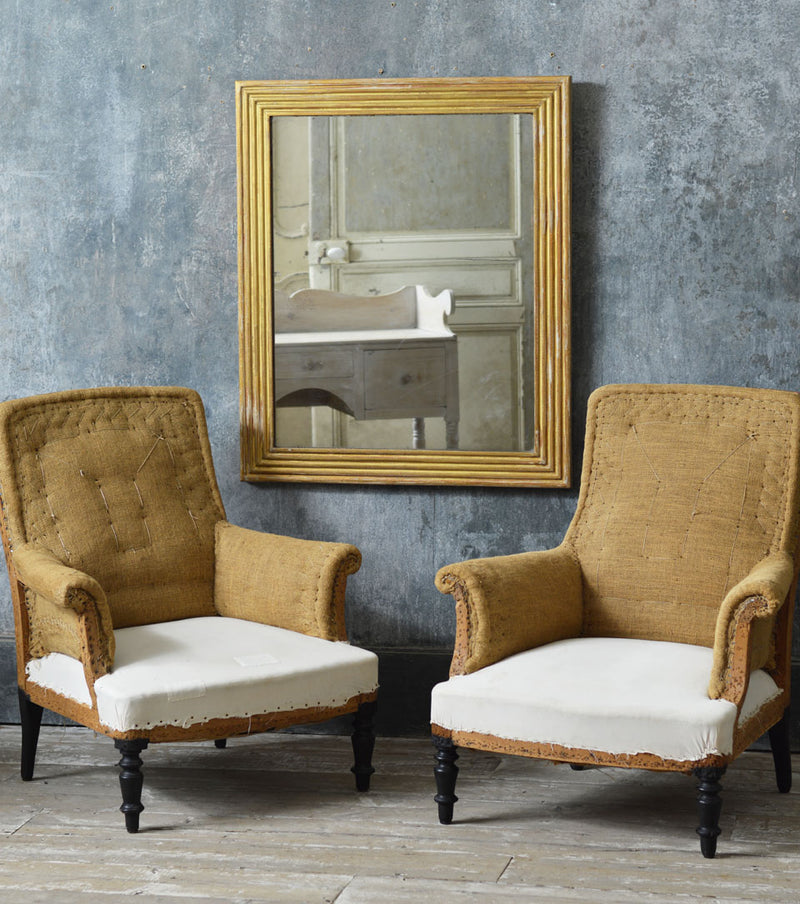 Pair of Napoleon Third armchairs