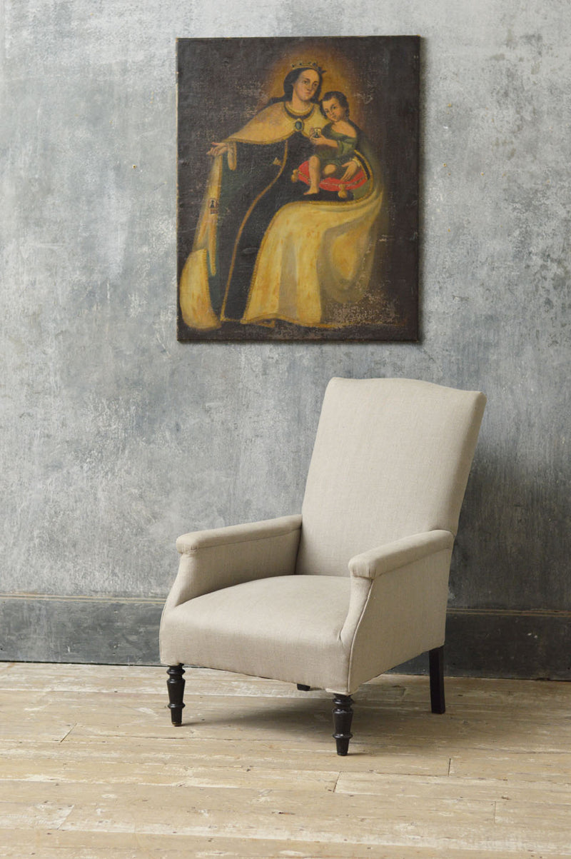 French 19th Century library armchair
