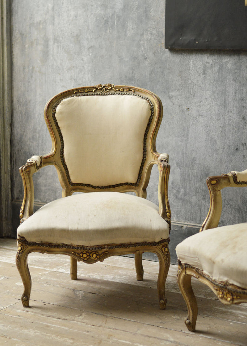 Pair of Louise Philippe salon chairs