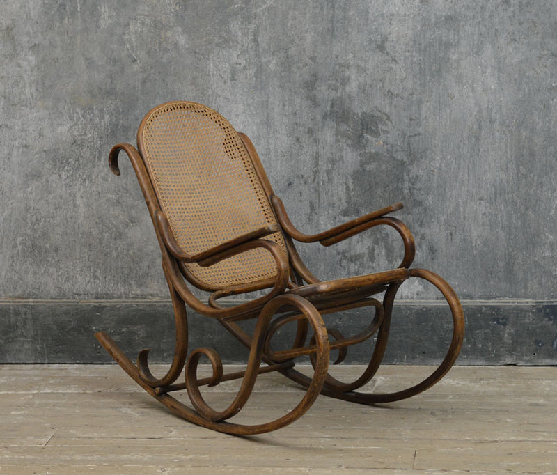 19th Century bentwood rocking chair by Fischel