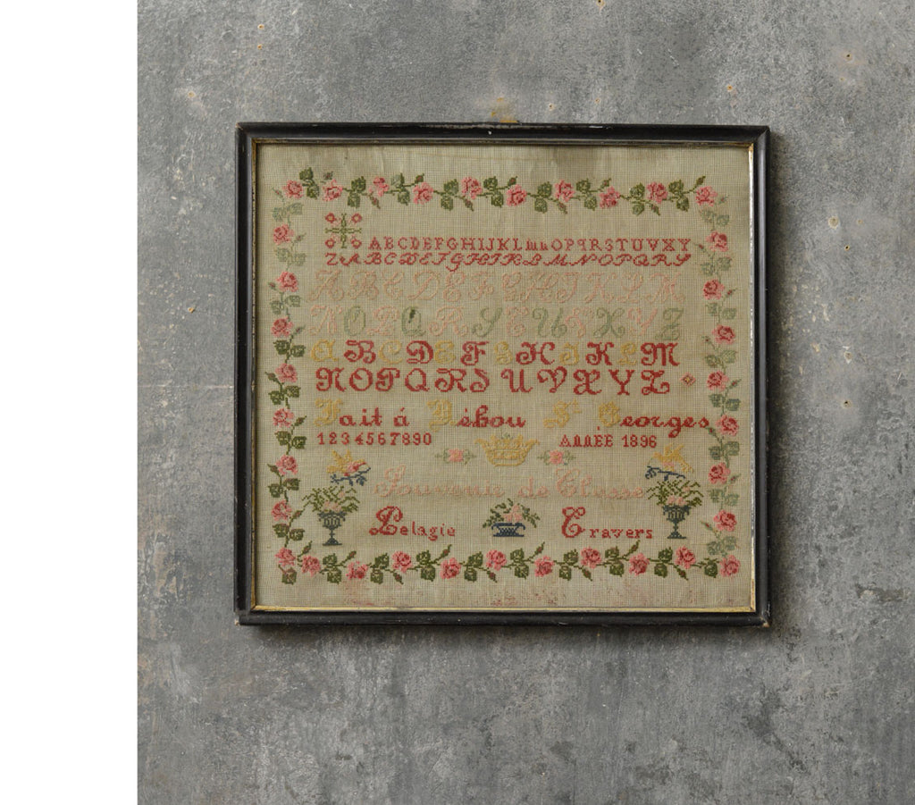 French sampler dated 1896.