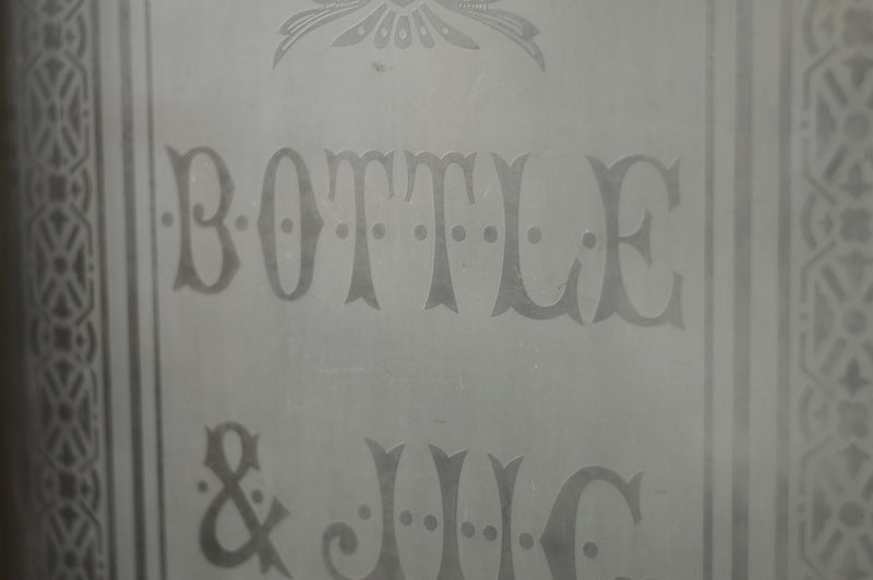 Pair of English etched glass tavern doors