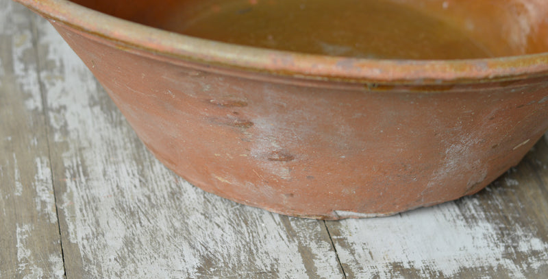French 19th Century large earthenware bowl