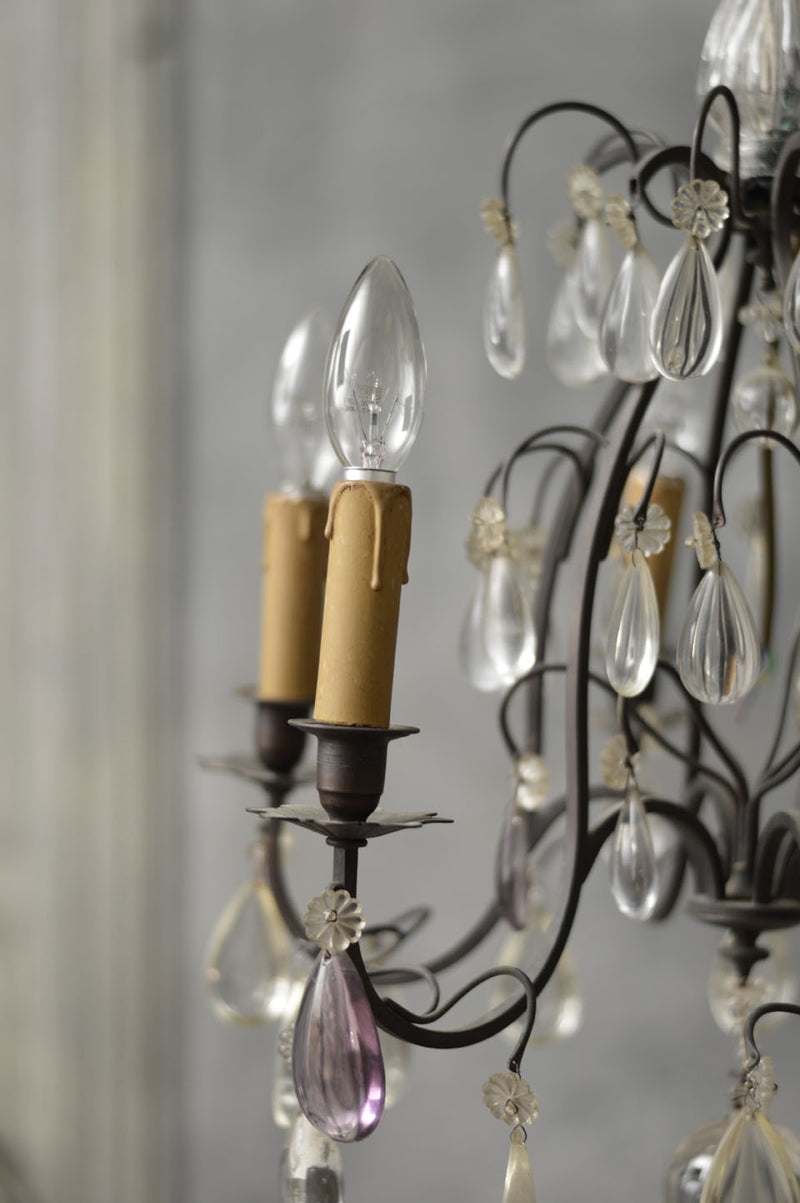 FRENCH 19TH CENTURY IRON CHANDELIER