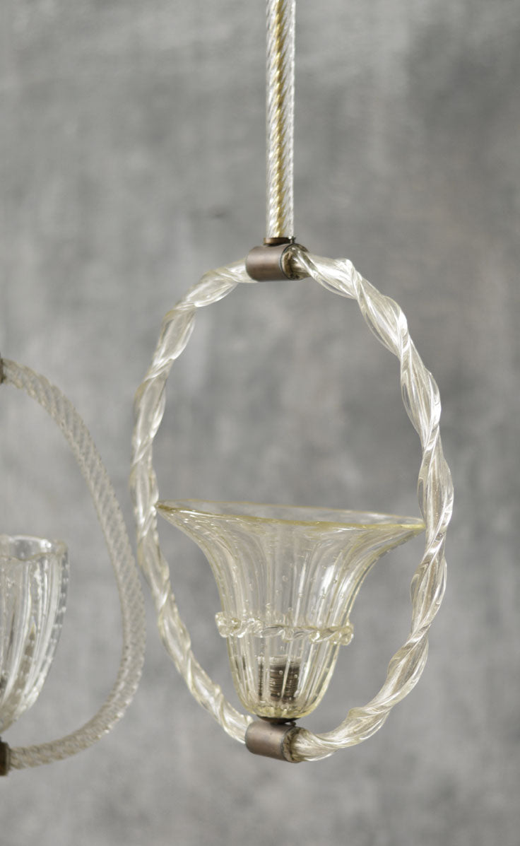 TRIO OF MURANO GLASS CHANDELIERS