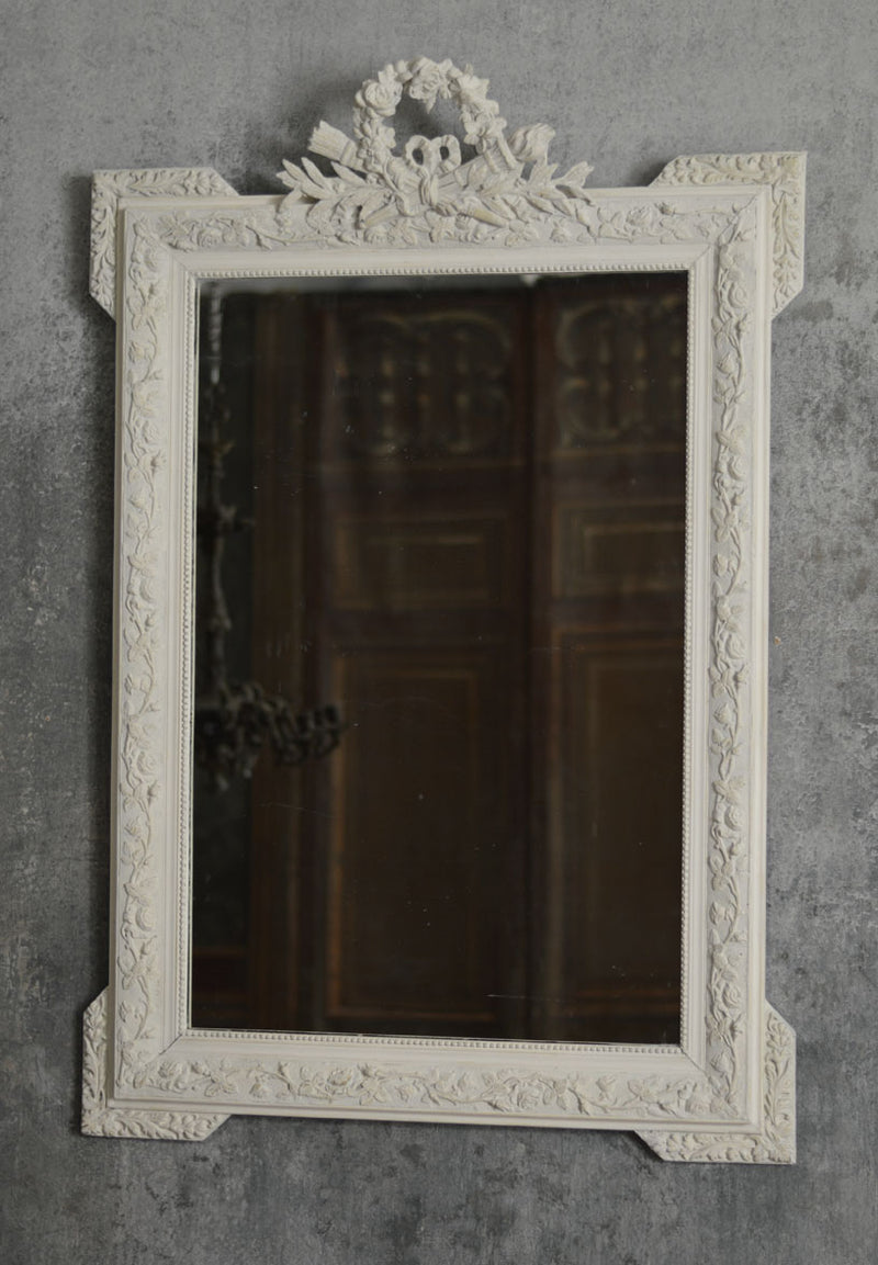 FRENCH 19TH CENTURY MIRROR IN GESSO.