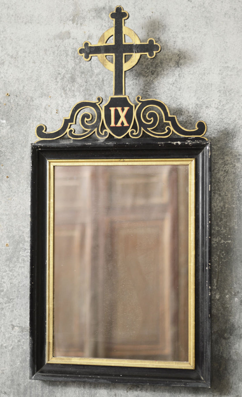 PAIR OF ECCLESIASTICAL MIRRORS