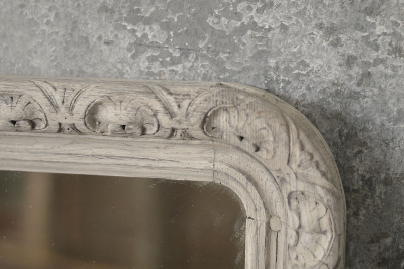 FRENCH 19TH CENTURY CARVED OAK MIRROR