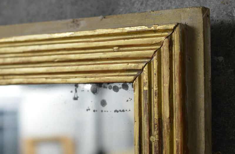 French 18th Century  reeded mirror.