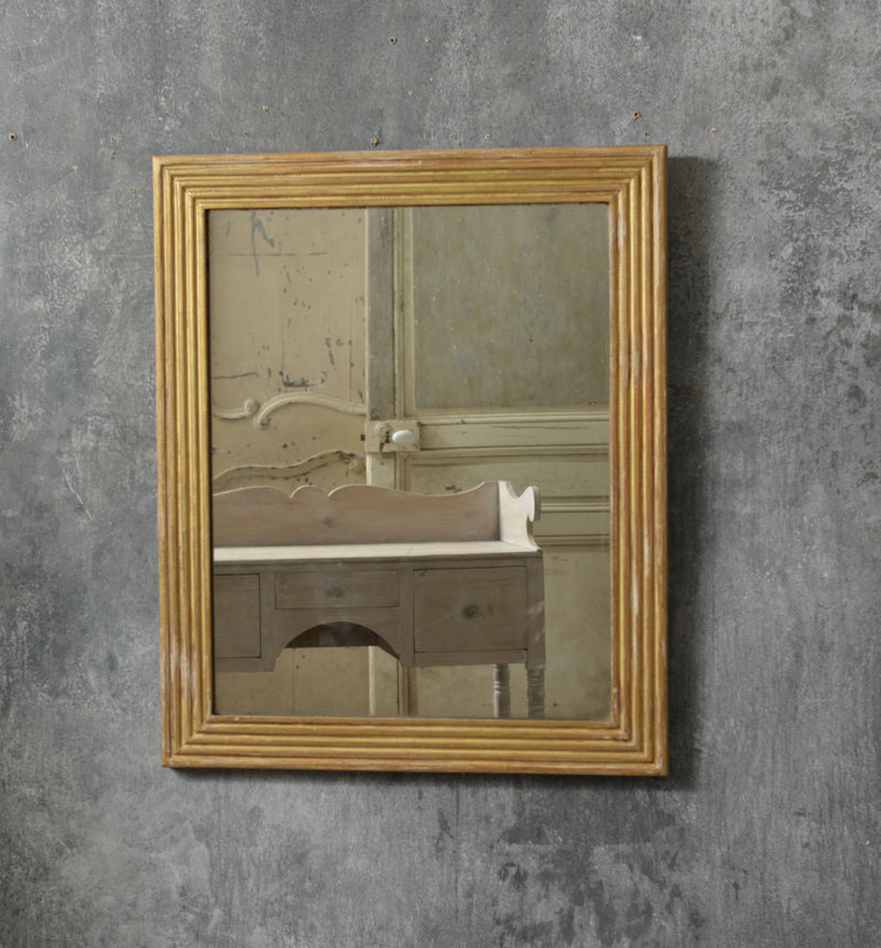 French reeded Bistro mirror