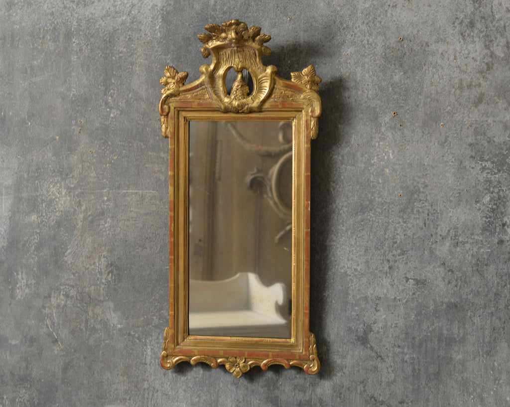 Swedish 18th Century carved mirror.