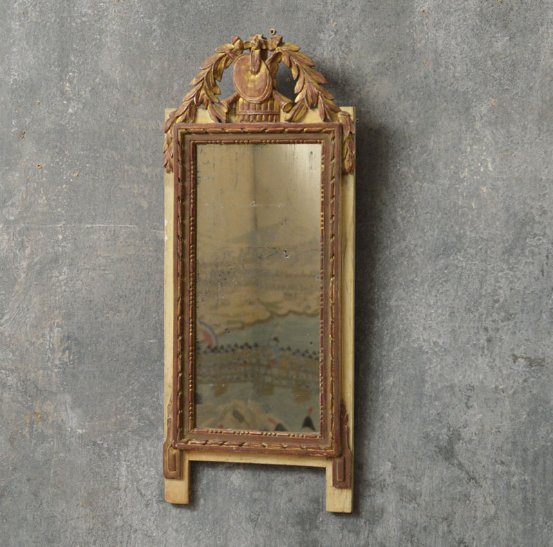 Small French 19th Century marriage mirror