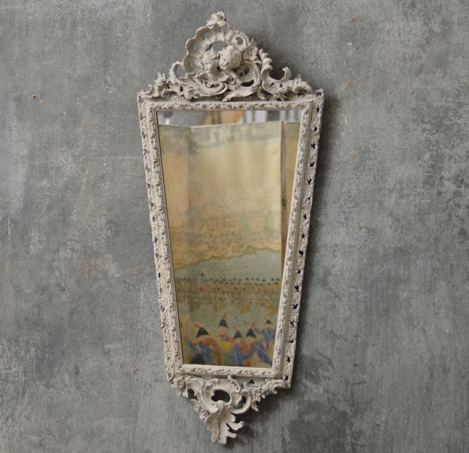 English 1950's cherub mirror
