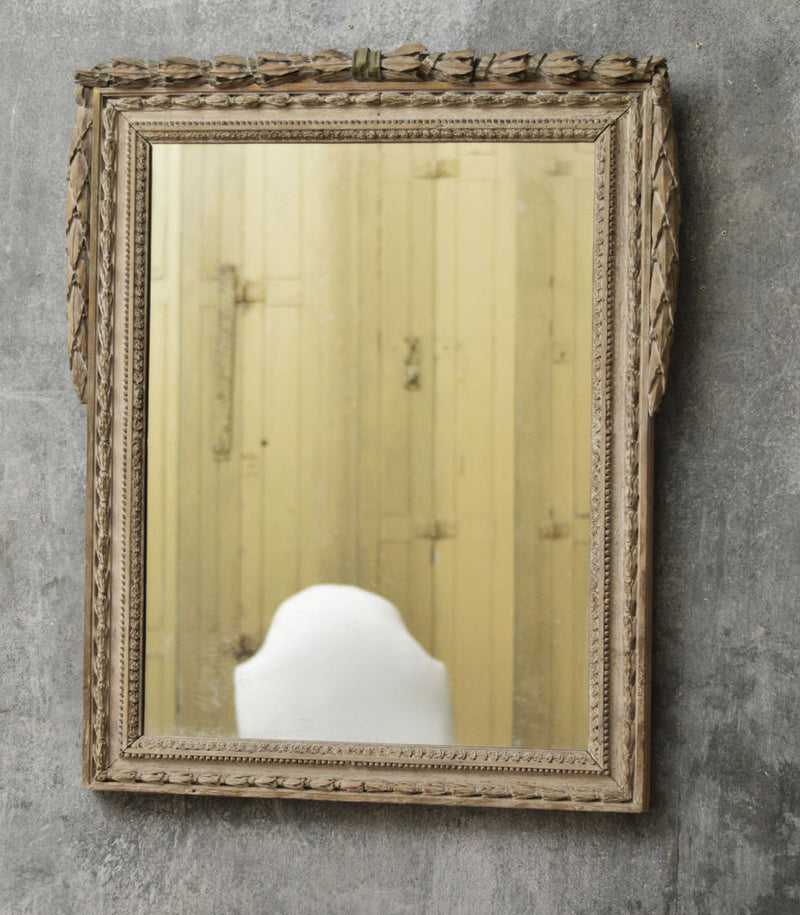 French 18th Century carved oak mirror